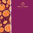 vector Thanksgiving pumpkins square torn seamless pattern