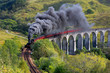 canvas print picture - The Jacobite train Glenfinnan viaduct Highland Scotland
