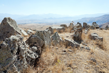 standing stones of Zorats Karer in Armenia