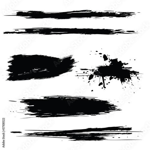 Papiers peints Forme Vector set of grunge brush strokes