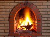 Fototapety fire in  fireplace