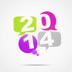 4 bulles 2014 (vert anis, fuschia, violet et gris)