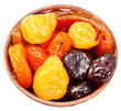 armenian sugared sweet fruits in bowl