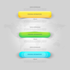 Website template elements: very detailed colored buttons