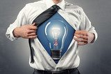 Business-Shirt with Lightbulb