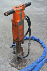 Orange pneumatic hammer