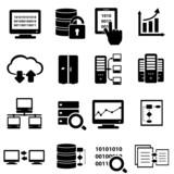 Big data icon set - 57112367