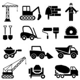 Construction and industrial machinery icons
