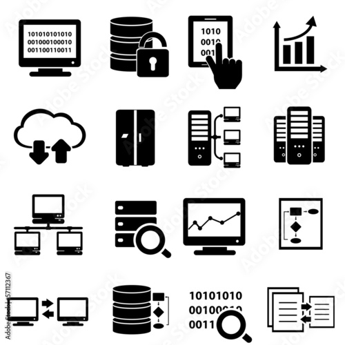 Big data icon set - 57112367