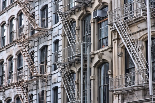 Fire escape stairs in New York