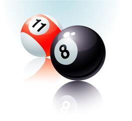 Billiards fortune. Vector.