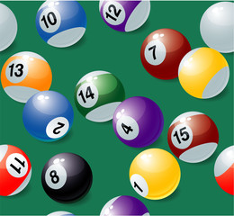 Seamless billiards vector background