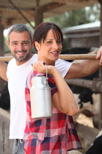 couple in a farm