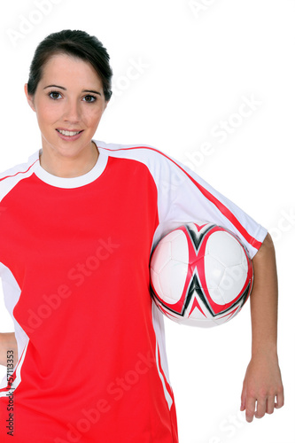 female footballer
