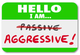 Hello I am Aggressive Vs Passive Action or Inaction Attitude