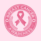 Breast Cancer Awareness Rubber Stamp Icon