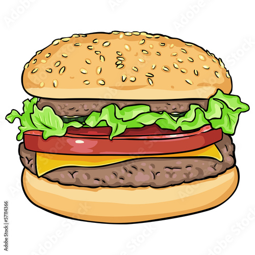 vector cartoon hamburger