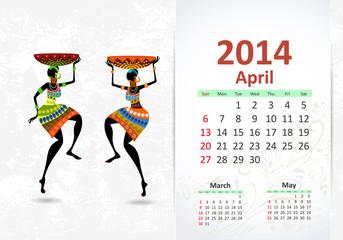 Ethnic Calendar 2014 april