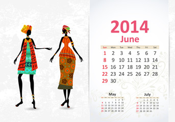 Ethnic Calendar 2014 june
