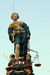 Justitia in Bern, Schweiz