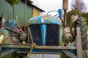 Old colorful tractor