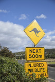 Kangaroo sign in Australia