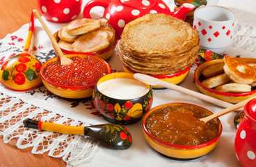 Russian Shrovetide meal