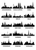 Fototapety Silhouette city