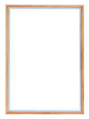 narrow wooden vertical picture frame