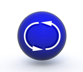 recycle sphere icon on white background