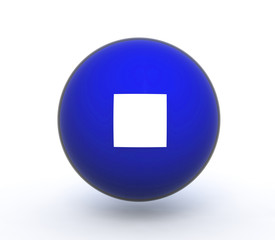 stop sphere icon on white background