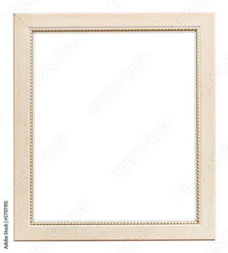 white flat vertical picture frame