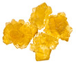 pieces of yellow crystalline caramel sugar