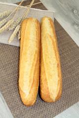 demi-baguettes de pains