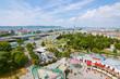 панорамный вид Вены с высоты в парке отдыха