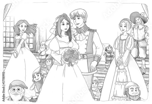 The sketch coloring page - artistic style fairy tale - 57118992