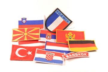 Set of world flags on white background