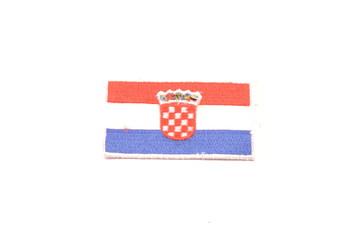 Croatia flag emblem isolated on white background