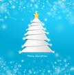 Winter Weihnachtsbaum blau