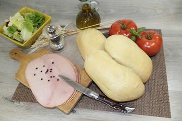 faluches et jambon blanc