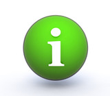 information sphere icon on white background