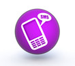 sms sphere icon on white background