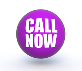 call now sphere icon on white background