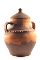 Amphora isolated on white background