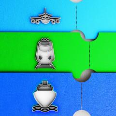 Passenger transport tickets icon