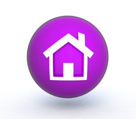 home sphere icon on white background