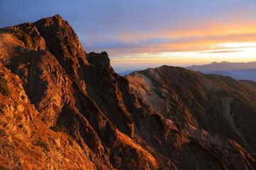 白馬岳の朝