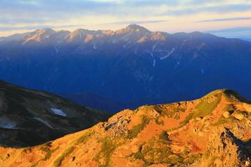 白馬岳より立山連峰