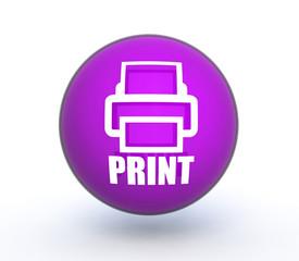print sphere icon on white background