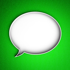 Message icon. Speech bubble.